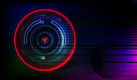Abstract background. Circles. Technology. Abstract background. Neon timing. lights Royalty Free Stock Images