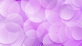 Abstract background of circles. Abstract background of translucent circles and halftone dots in purple colors Vector Illustration