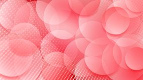Abstract background of circles. Abstract background of translucent circles and halftone dots in red colors Stock Illustration