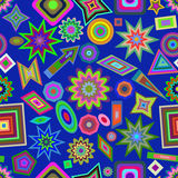 Abstract background with circles. Vector seamless pattern. Royalty Free Stock Photography
