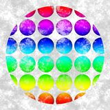 Abstract background with circular dotted motif. In grunge style royalty free illustration