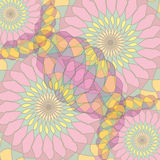 Abstract background with circular patterns Royalty Free Stock Image