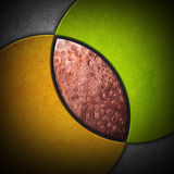 Abstract background. Circular shape intersect with texture metal Royalty Free Stock Images