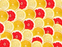 Abstract background with citrus-fruit of grapefruit, orange and Royalty Free Stock Photo