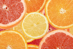 Abstract background of citrus slices Royalty Free Stock Images