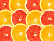 Abstract background of citrus slices stock image