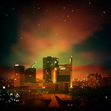 Abstract background with city at night Royalty Free Stock Photo