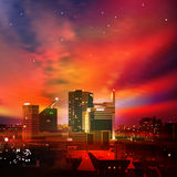 Abstract background with city at night Stock Image