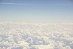 Abstract & background Clear sky. Taken from airplane Royalty Free Stock Photo