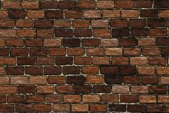 Abstract background- clinker brick wall. Brick wall in interior in loft style. Abstract background- nature pattern. Clinker brick for a facade- made of special Stock Photo