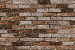 Abstract background- clinker brick wall. Brick wall in interior in loft style. Abstract background- nature pattern. Clinker brick for a facade- made of special Royalty Free Stock Images