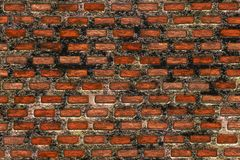 Abstract background- clinker brick wall. Brick wall in interior in loft style. Abstract background- nature pattern. Clinker brick for a facade- made of special Royalty Free Stock Photo