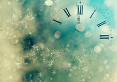 Abstract background with clock close to midnight Stock Photo
