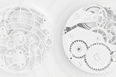 Abstract background of the clock Royalty Free Stock Images