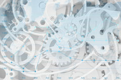 Abstract background of the clock Stock Photo