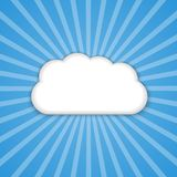 Abstract background cloud in the blue sky with sun rays. Vector illustration royalty free illustration