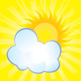 Abstract background cloud hides the sun. Abstract background, fluffy cloud covers the sun royalty free illustration