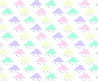 Abstract background with cloud ,sky and star in pastel color. royalty free illustration