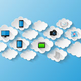 Abstract background.  Cloud storage concept Stock Images