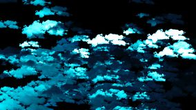 Abstract background with clouds. Digital 3d rendering stock illustration