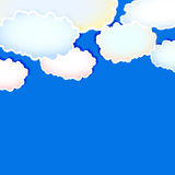 Abstract background with clouds. Easy all editable vector illustration