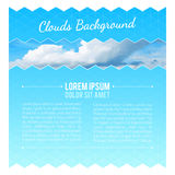 Abstract Background With Clouds. Flyer Layout Design Template. Vector illustration stock illustration