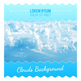 Abstract Background With Clouds. Flyer Layout Design Template. Vector illustration vector illustration