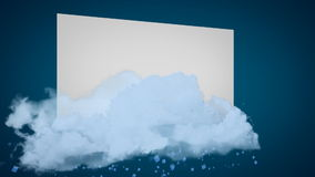 Abstract background with clouds and particles stock footage