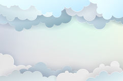 Abstract background with clouds and place for your text. Vector illustration royalty free illustration