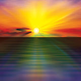 Abstract background with clouds and sea sunrise Royalty Free Stock Photography