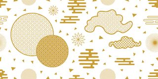 Happy Chinese New Year seamless vector pattern. stock illustration