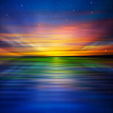 Abstract background with clouds and sunrise Royalty Free Stock Photography