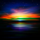 Abstract background with clouds and sunrise Stock Photos