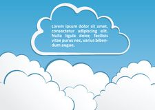 Abstract background with clouds. Vector. Illustration. This is file of EPS10 format royalty free illustration