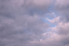 Abstract background of cloudy autumn sky of purple tint Royalty Free Stock Photo