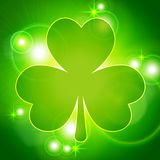 Abstract background with clover Stock Image