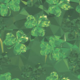 Abstract Background clover green,. Abstract Background green clover,seamless pattern for design Royalty Free Stock Photos