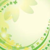 Abstract background with clover leaves Stock Photo