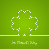 Abstract background with clover quatrefoil. Good luck and fortune. St. Patrick Day. Outline Stock Image