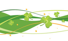 Abstract background with clovers. Bitmap picture with additional vector file Stock Images