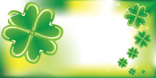 Abstract background with clovers Stock Image