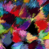 Abstract background with clusters of rainbow blocks Royalty Free Stock Image