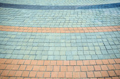 Abstract background of cobblestone pavement. Stock Photo