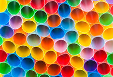 Background of cocktail straws Stock Photo