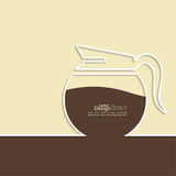Abstract background with a coffee pot Stock Images