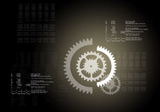 Abstract background with cog wheels Royalty Free Stock Images