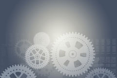 Abstract background with cogs Royalty Free Stock Photography