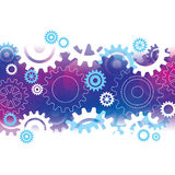 Abstract Background with Cogs. A purple & blue abstract background with cogs Royalty Free Illustration
