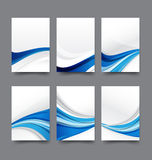 Abstract background collection of curve wave blue and white back. Ground vector illustration eps10 Royalty Free Stock Image