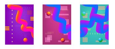 Abstract background collection. Set of minimalistic covers. Stock Photos